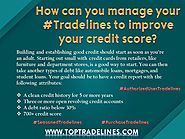 How Can You Manage Your Tradelines To Improve Your Credit Score?