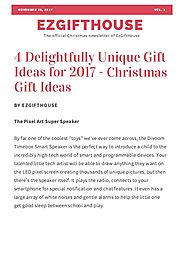 Gift Ideas Newsletter Vol 1