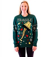 A Christmas Story Fragile Leg Lamp Light Up Ugly Holiday Sweater