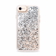 White Honeycomb Transparent Pattern iPhone 8 Glitter Case