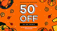 50% Off Thanksgiving Sale 23-30 November on ThemeForest