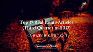 Top 17 Real Estate Articles of the Third Quarter of 2017