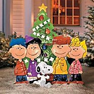 Outdoor Metal Christmas PEANUTS CHARLIE BROWN & FRIENDS Yard Art Display Decor