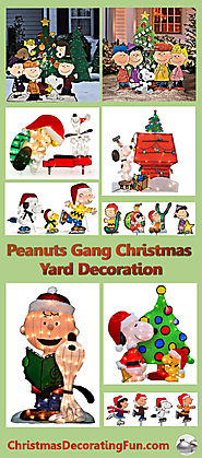 Peanuts Gang Christmas Yard Decorations""