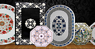 Marble Inlay Pietra Dura Table Tops | Interior2han.net