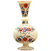 Jaali Work Marble Inlay Decorative Flower Vase