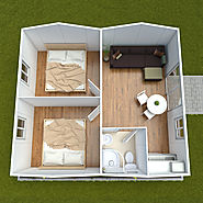 2 Bedroom Cabin Flatpack with ensuite - Great Value Granny Flats