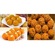 Indian Sweets Home Made - BESAN LADOO + MOTICHOOR LADOO + KARI LADOO BIG [ PRICE SHOWN FOR 1 LB ]