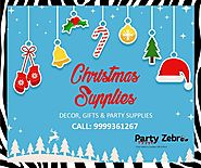 Christmas Party Supplies from Party Zebra