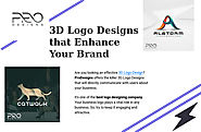 3D Logo Designs that Enhance Your Brand Identity