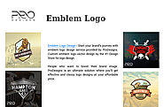 Start your Brand's Journey with Emblem Logo Design