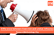 Difference between Coercion and undue Influence