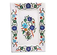 Marble Inlay Tray Having Beautiful Pietra Dura Work
