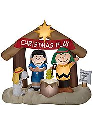 Gemmy Peanuts Nativity Scene