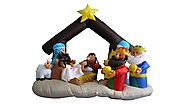 Christmas Inflatable Nativity Scene with Three Kings Decoration
