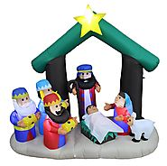Christmas Inflatable Nativity Scene Indoor Outdoor Yard Decoration