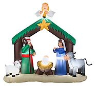 Inflatable Nativity Scene Outdoor Christmas Holiday Decoration