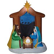 6.5' Nativity Scene Christmas Inflatable Outdoor Decor