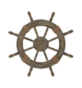 "Nautical Decor 24"" Wood Pirate's Ship Wheel Marine Decor"