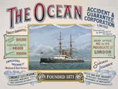 The Ocean Metal Sign: Ship and Nautical Decor Wall Accent
