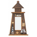 Nautical Wood Mirror Lighthouse