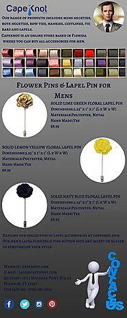 Flower Pins & Lapel Pin for Mens