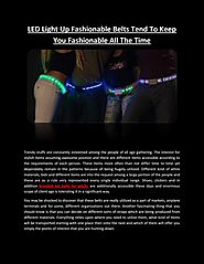 LED Light Up Fashionable Belts