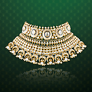 Mihrab Collection - Elegant Bridal Chocker Necklace with uncut Diamonds| Hazoorilal Legacy Jewellers