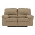 Signature Design by Ashley Furniture Kickoff - Mocha Contemporary Reclining Loveseat with Pillow Arms at Sam's Furnit...