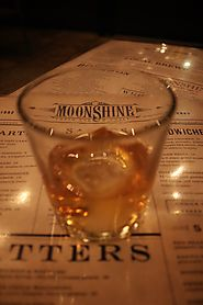 This whiskey inception shot from Moonshine Grill