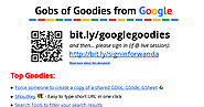 Gobs of Google Goodies - Google Docs