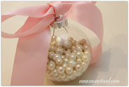Pearls In a Glass Ornament