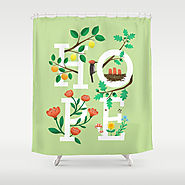 Hope Lemons and Oranges Shower Curtain