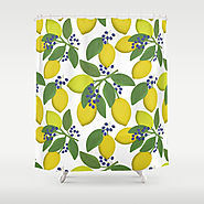 Sprigs of lemon . Shower Curtain