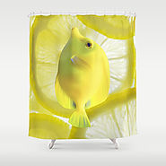 Lemon Fish Shower Curtain