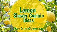 Lemon Yellow Shower Curtain Bathroom Ideas