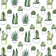 Cactus Succulent Shower Curtain Collection