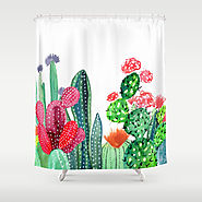 A Prickly Bunch 4 Shower Curtain