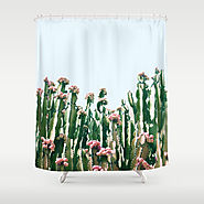 Blush Cactus Shower Curtain