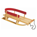 Pelican Baby Single Back Sleigh, Beige/Red