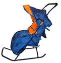 Snow Stroller Deluxe-Plus Baby Push Sled