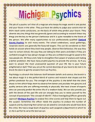 Michigan Psychics