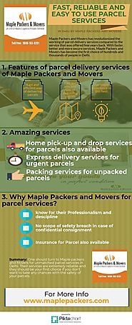 FAST, RELIABLE AND EASY TO USE PARCEL SERVICES
