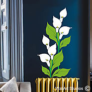 Floral Wall Art Stickers | Wall Art Stickers | Wall Art Studios