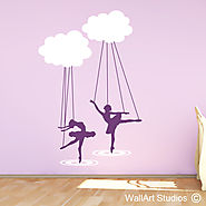 Girls Wall Art Stickers | Girls Decals | Wall Art Studio