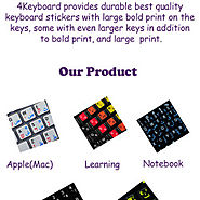 Large Print Keyboard Sticker - 4keyboard | Visual.ly