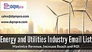 Energy and Utilities Industry Email List