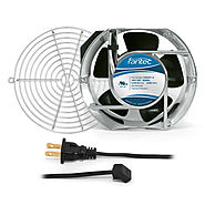 172mm Cabinet Cooling Fan Kit, Cord and Wire Guard 120v CAB707 - GardTec