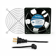 120mm Cabinet Cooling Fan Kit, Cord and Wire Guard 120v CAB702