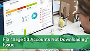 Sage 50 Accounts Not Downloading - Fix It - +1-844-313-4854